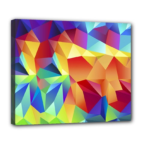 Triangles Space Rainbow Color Deluxe Canvas 24  x 20