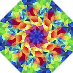 Triangles Space Rainbow Color Hook Handle Umbrellas (Medium)