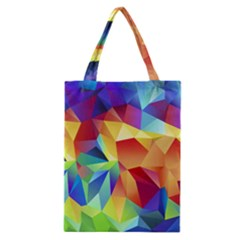 Triangles Space Rainbow Color Classic Tote Bag
