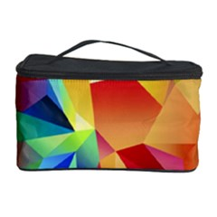 Triangles Space Rainbow Color Cosmetic Storage Case