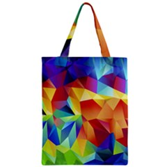 Triangles Space Rainbow Color Zipper Classic Tote Bag