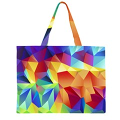 Triangles Space Rainbow Color Large Tote Bag