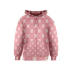 Sunflower Star White Pink Chevron Wave Polka Kids  Zipper Hoodie