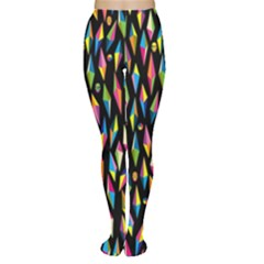 Skulls Bone Face Mask Triangle Rainbow Color Women s Tights