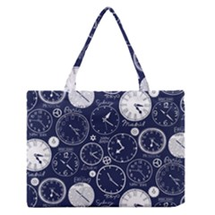 World Clocks Medium Zipper Tote Bag