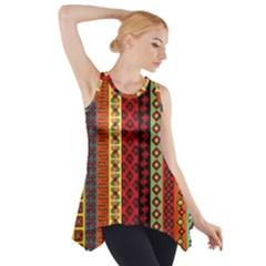 Tribal Grace Colorful Side Drop Tank Tunic