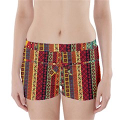 Tribal Grace Colorful Boyleg Bikini Wrap Bottoms