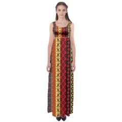 Tribal Grace Colorful Empire Waist Maxi Dress