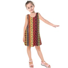 Tribal Grace Colorful Kids  Sleeveless Dress