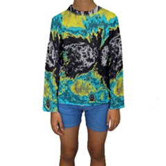 Abstraction Kids  Long Sleeve Swimwear