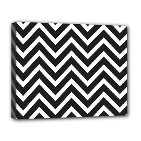 Zigzag pattern Deluxe Canvas 20  x 16