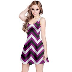 Zigzag pattern Reversible Sleeveless Dress