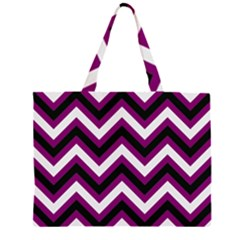 Zigzag pattern Large Tote Bag