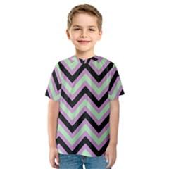 Zigzag pattern Kids  Sport Mesh Tee