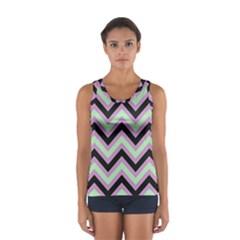 Zigzag pattern Women s Sport Tank Top