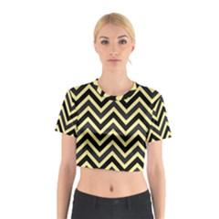 Zigzag pattern Cotton Crop Top