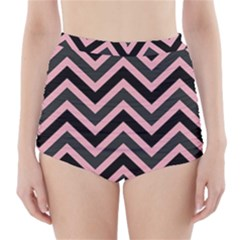 Zigzag pattern High-Waisted Bikini Bottoms