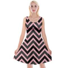 Zigzag pattern Reversible Velvet Sleeveless Dress