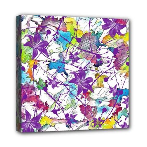 Lilac Lillys Mini Canvas 8  x 8