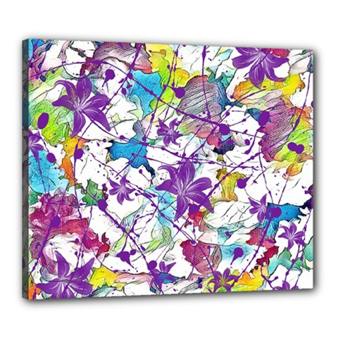 Lilac Lillys Canvas 24  x 20