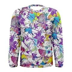 Lilac Lillys Men s Long Sleeve Tee