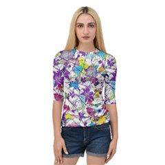 Lilac Lillys Quarter Sleeve Tee