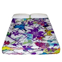 Lilac Lillys Fitted Sheet (queen Size)