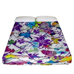 Lilac Lillys Fitted Sheet (California King Size)