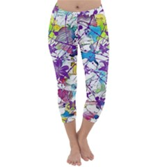 Lilac Lillys Capri Winter Leggings