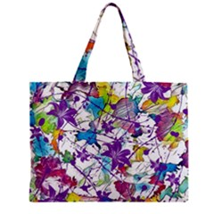 Lilac Lillys Zipper Mini Tote Bag