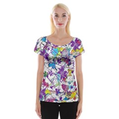 Lilac Lillys Women s Cap Sleeve Top