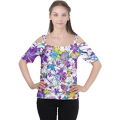 Lilac Lillys Women s Cutout Shoulder Tee