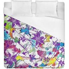 Lilac Lillys Duvet Cover (king Size)