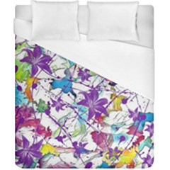 Lilac Lillys Duvet Cover (California King Size)