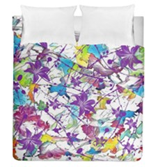 Lilac Lillys Duvet Cover Double Side (Queen Size)