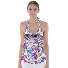 Lilac Lillys Babydoll Tankini Top