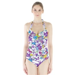 Lilac Lillys Halter Swimsuit