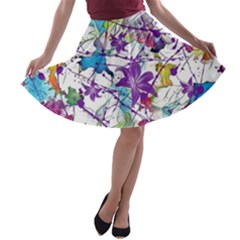 Lilac Lillys A-line Skater Skirt