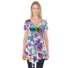 Lilac Lillys Short Sleeve Tunic