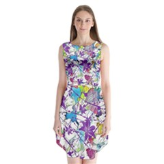 Lilac Lillys Sleeveless Chiffon Dress