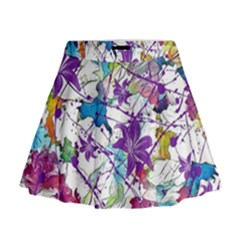 Lilac Lillys Mini Flare Skirt