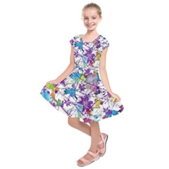 Lilac Lillys Kids  Short Sleeve Dress