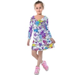 Lilac Lillys Kids  Long Sleeve Velvet Dress