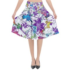 Lilac Lillys Flared Midi Skirt