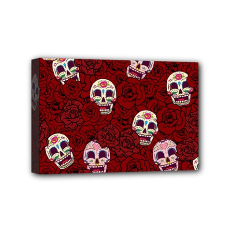 Funny Skull Rosebed Mini Canvas 6  x 4