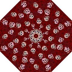 Funny Skull Rosebed Hook Handle Umbrellas (Medium)