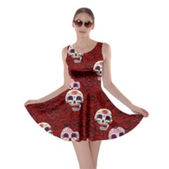 Funny Skull Rosebed Skater Dress