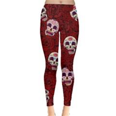 Funny Skull Rosebed Leggings