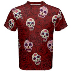 Funny Skull Rosebed Men s Cotton Tee