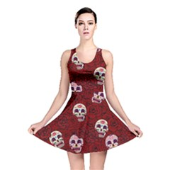 Funny Skull Rosebed Reversible Skater Dress
